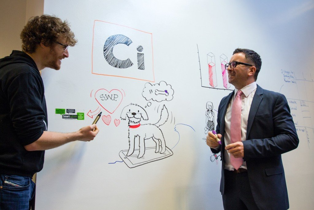 Whiteboard paint on Walls at The Web Summit | Smarter Surfaces