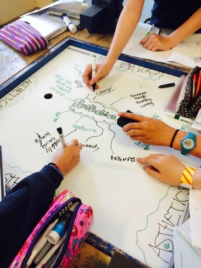 whiteboard paint on students desks | Smarter Surfaces