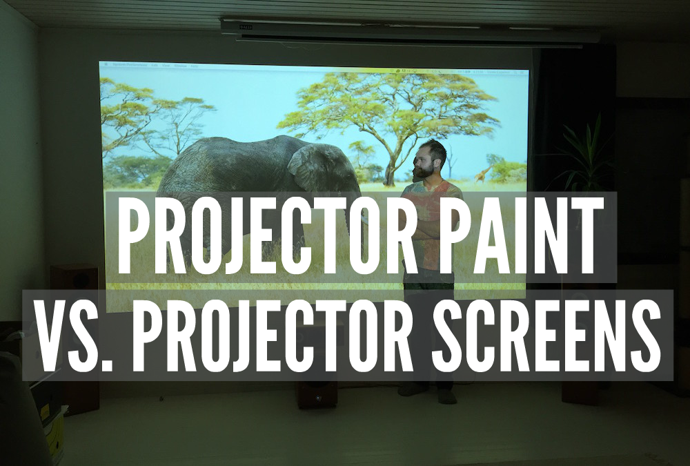 Projector paint vs projector screens smarter surfaces for Paint projector screen