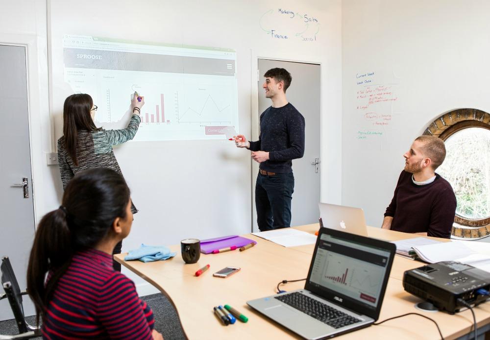 projector whiteboard wallcovering, wall, business, presentation, teamwork 2 (2) (1)