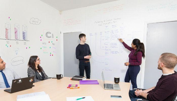 Smart-Whiteboard-Wallpaper-Low-Sheen-used-in-meeting-Office-Wall-Ideas