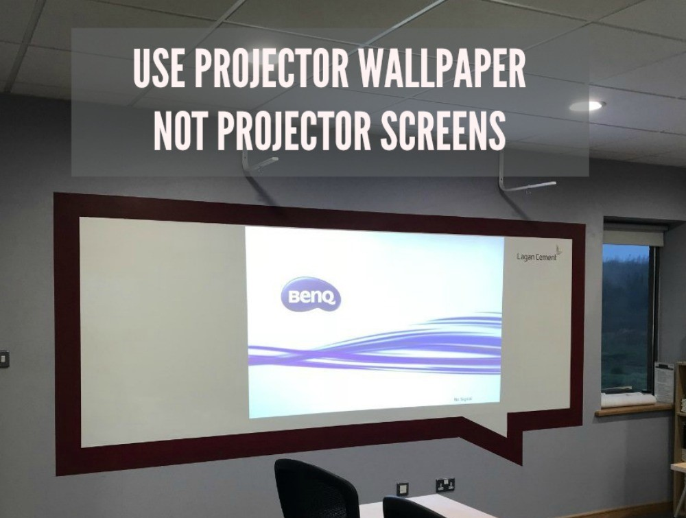 use projector wallpaper not screens smarter surfaces
