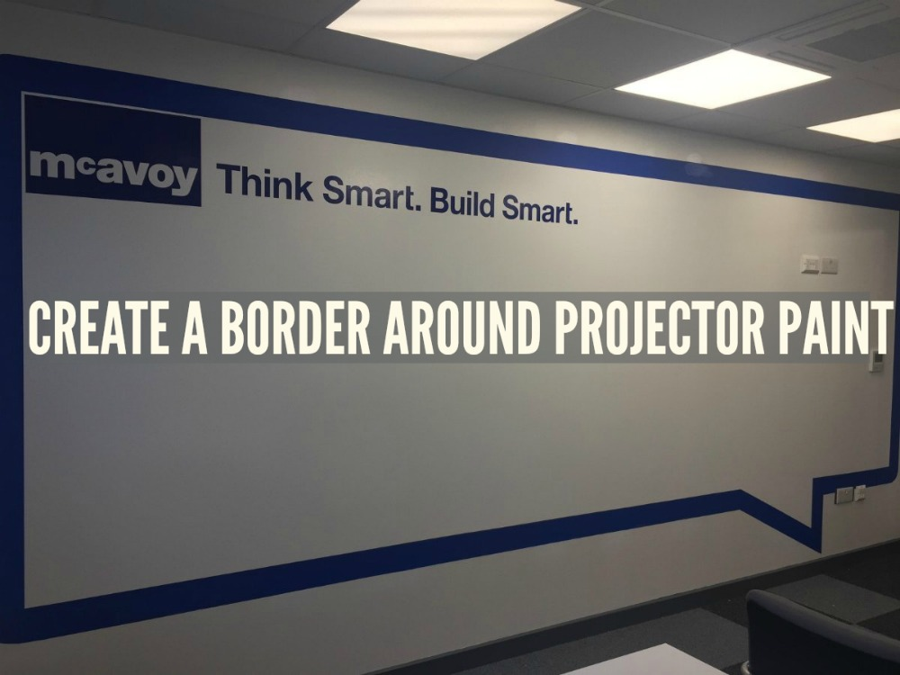 Create a Border Around Projector Paint