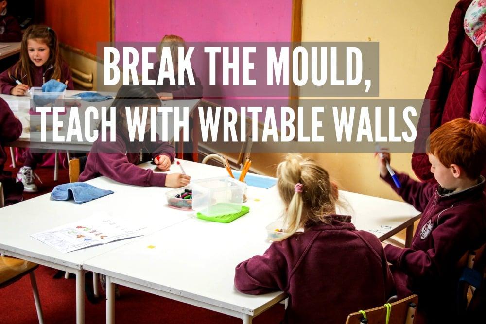 Copy of Whiteboard paint education desk children Ratoath junior school, writable