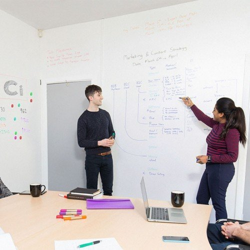 Smart-Whiteboard-Wallpaper-Low-Sheen-used-in-meeting-projector-whiteboard-surfaces