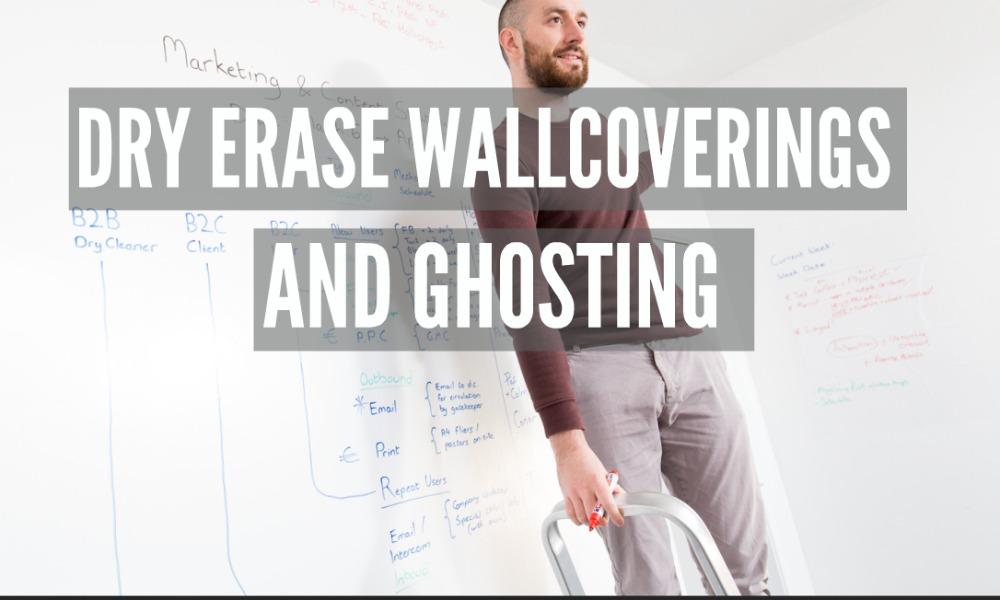 wallcovering, dry erase wallpaper, ghosting