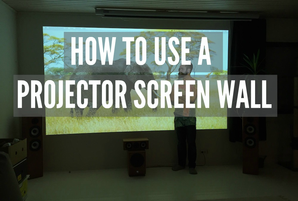 How To Use A Projector Screen Wall Smarter Surfaces Blog