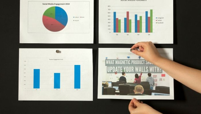 using-magnetic-paint-to-hang-up-documentson-wall-for-meeting