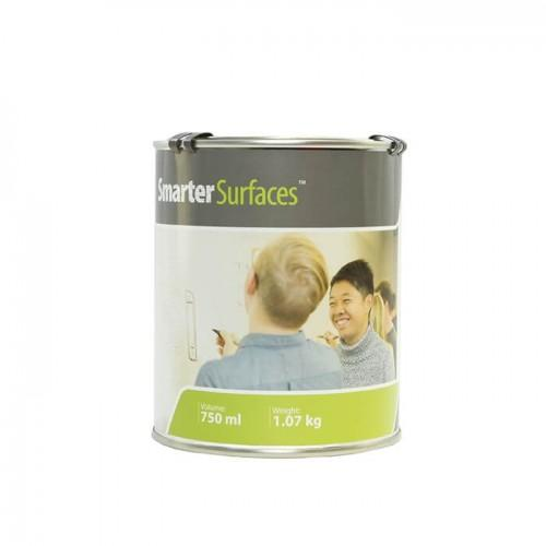 tin of smart white primer for whiteboard paint