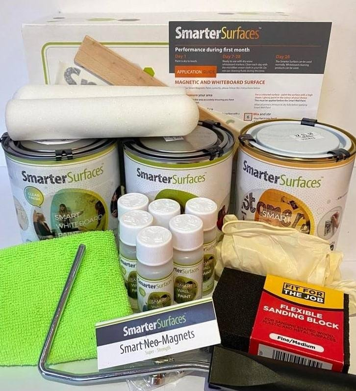 Smart-Magnetic-Whiteboard-Paint-Clear-Full-Kit-with-Application-Guide