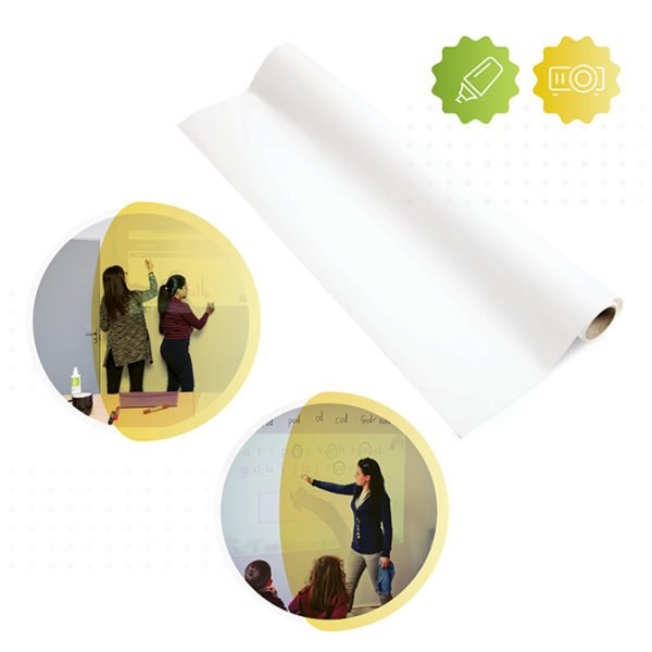2-in-1 Smart Whiteboard Wallpaper Low Sheen