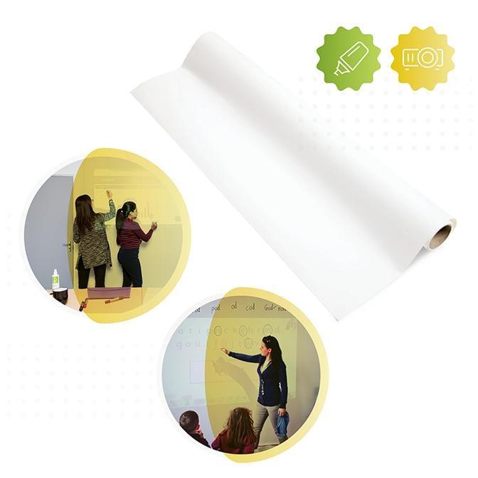 2-in-1 Smart Whiteboard Wallpaper Low Sheen