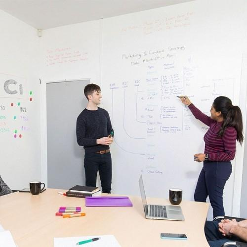 Low Sheen WHiteboard Wallpaper used in meeting