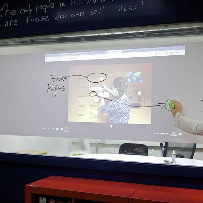 product s m smart 2 in 1 surface film projector and dry erase 12
