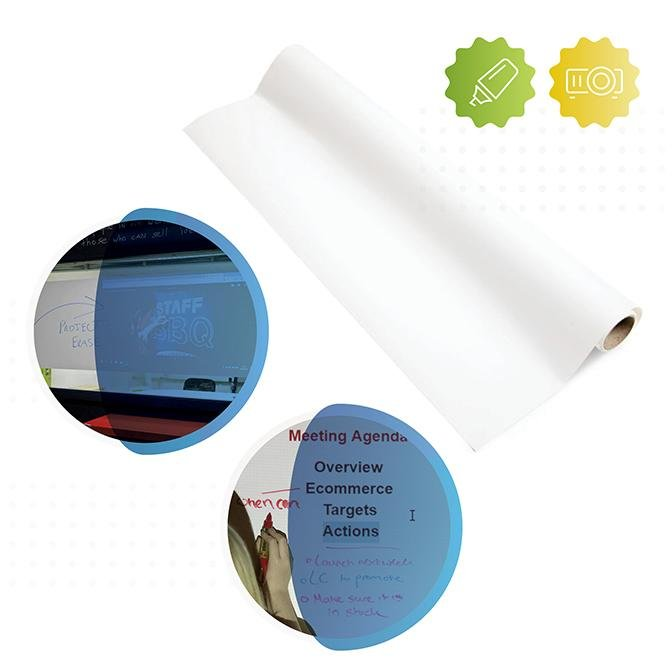 Smarter Surfaces Self-Adhesive Whiteboard Film Low Sheen