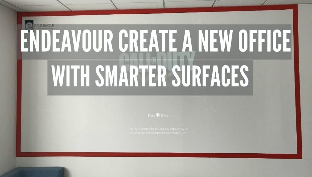 Blog Endeavour and Smarter Surfaces Projectable Wall for gaming 2