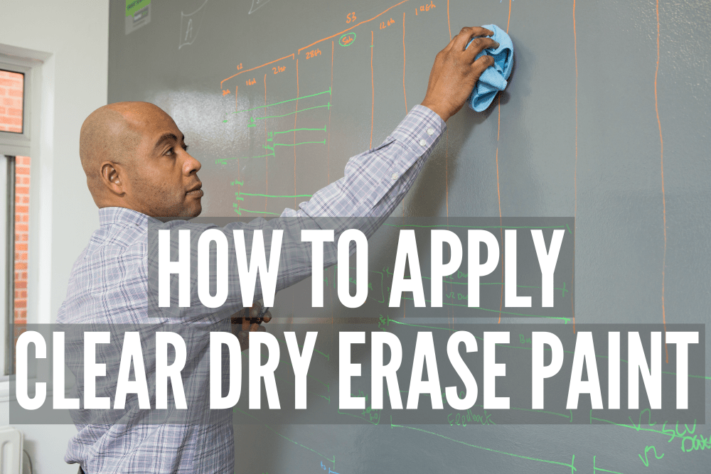 How to apply Clear Dry Erase Paint