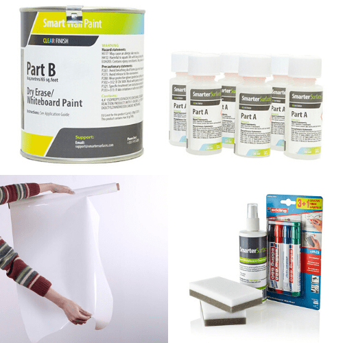 whiteboard paint clear bundle home office