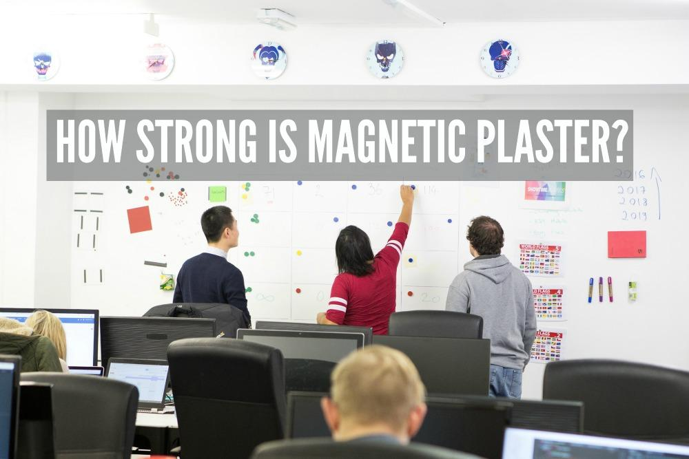 Magnetic Whiteboard in office cropped Smart Wall Paint Clear