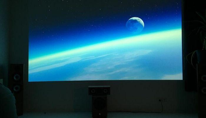 Projected-image-of-earth-on-Smart-Projector-Paint-Contrast-Projector-Screen-Ideas
