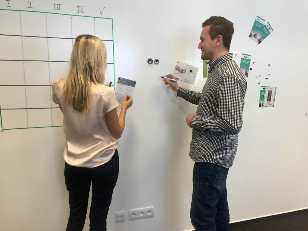 Social Media Calendar on a Wall