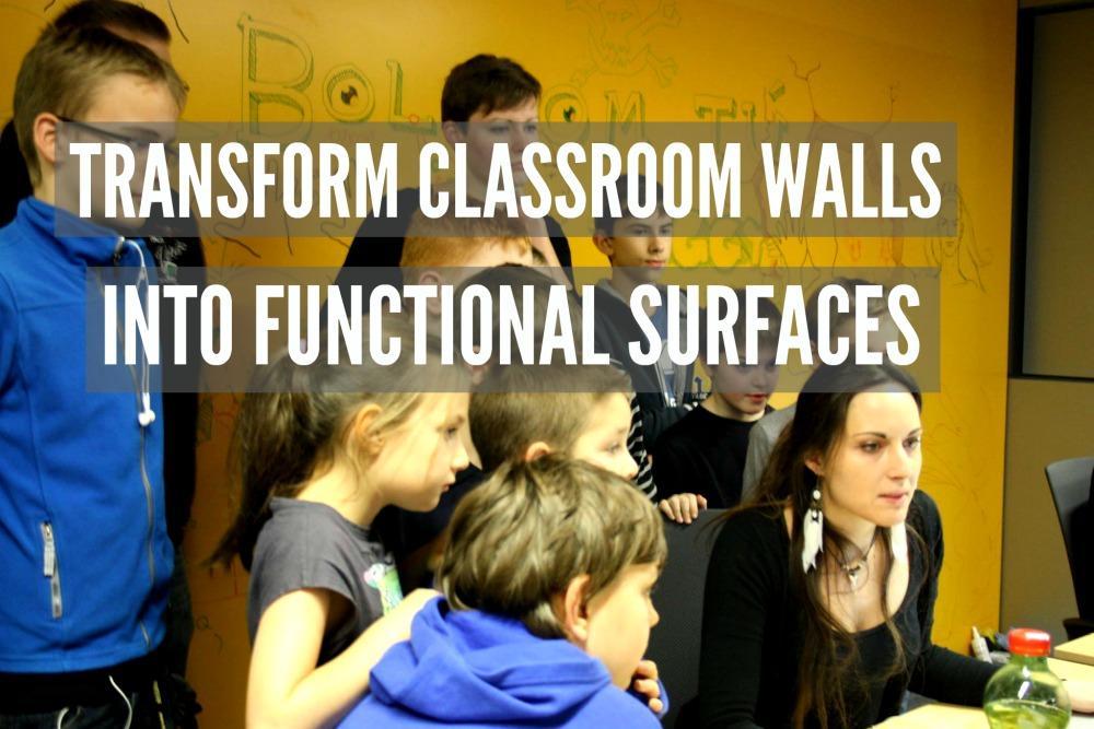 Whiteboard Paint clear wall pixel federation facebook kids school learning education classroom walls