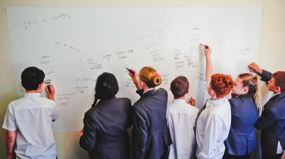 Whiteboard paint education woodham school 3