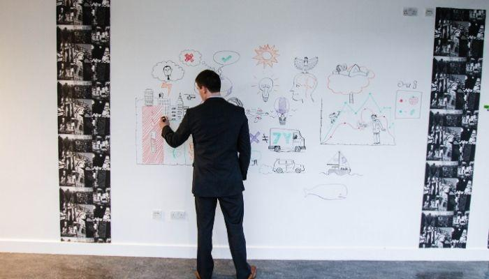 home-office-man-using-whiteboard-paint-to-draw