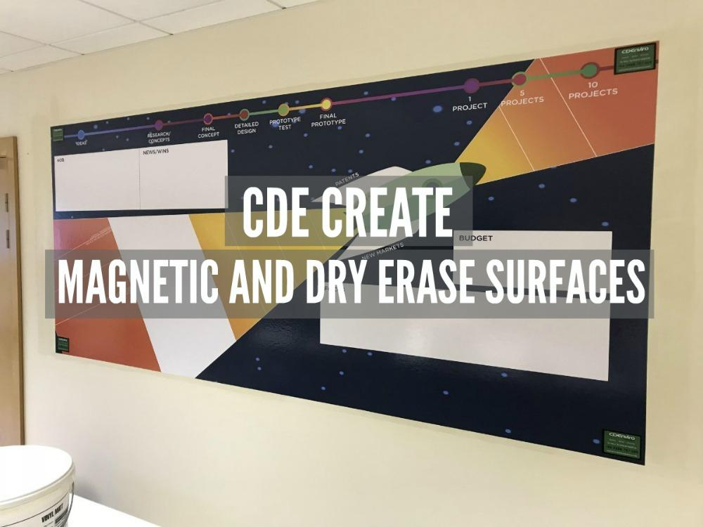 magnetic and dry erase digital print writable surface magnetic