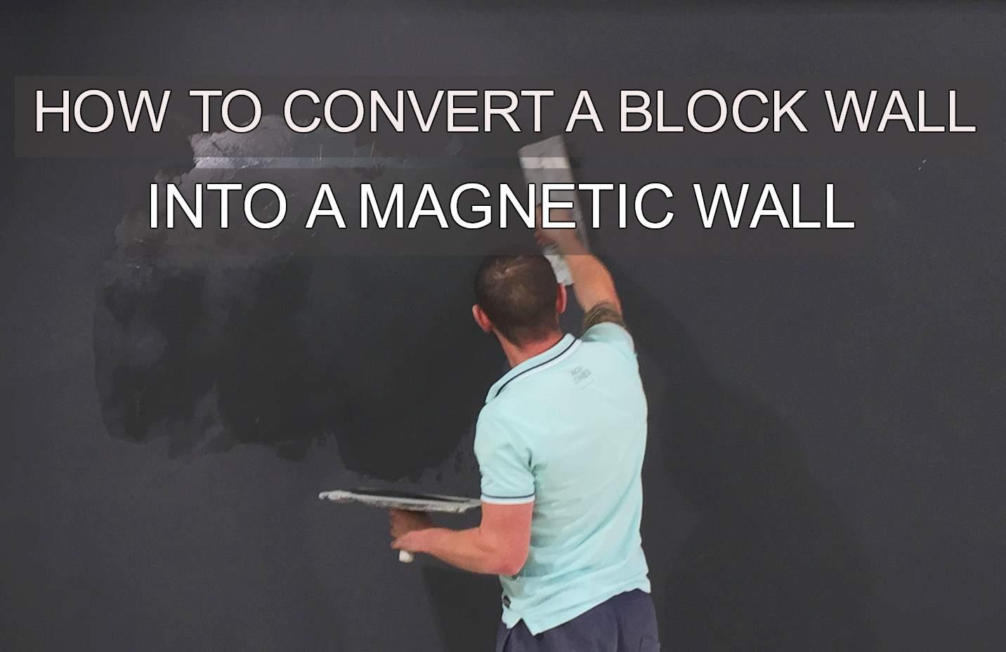 magneticplasterapplication magnetic wall