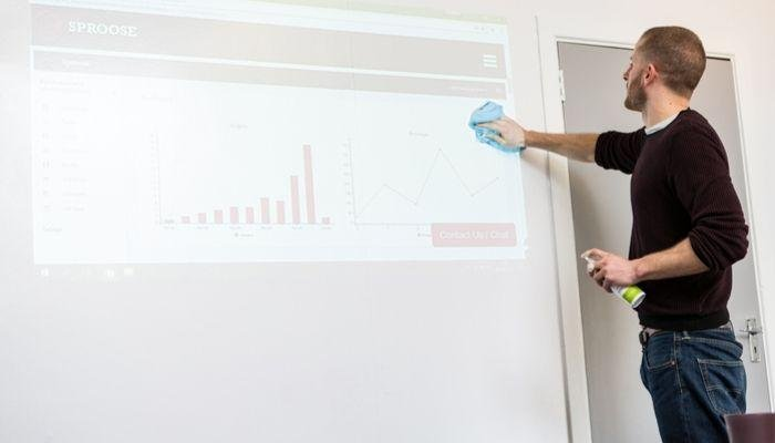man-using-projector-whiteboard-walls-in-meeting