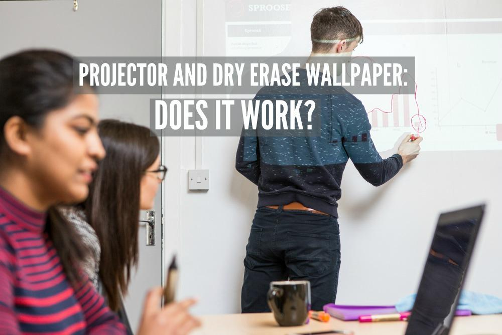 projector whiteboard wallcovering project erasable wall business presentation teamwork 4 3 projector and dry erase