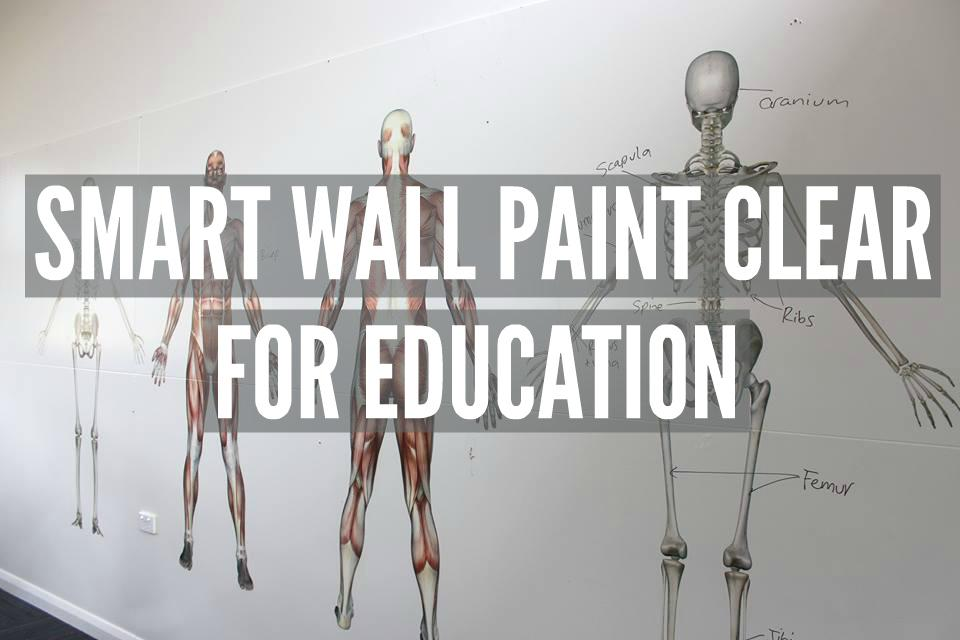 Uses for Smart Wall Paint Clear in Education